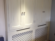 cupboard with radiator cover
