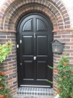 arched door in black