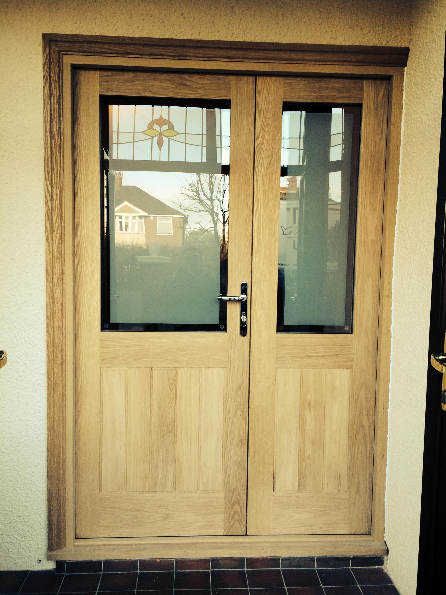 Oak Door And Half