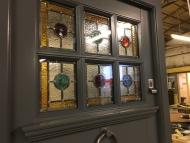 30s front door glass
