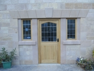 oak door and window