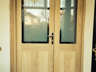 oak door and half