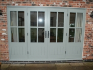 french doorset with fixed side panels