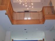 curved oak balstrading