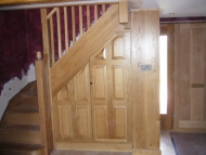 oak stairs with under stair  cupboard