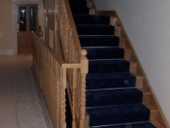 oak stairs closed string