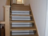 oak open riser stairs