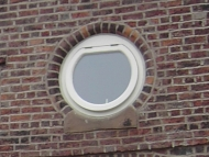 traditional style round window